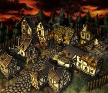 Сгоревшая деревня
